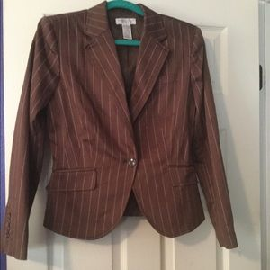 Brown and white stripped blazer
